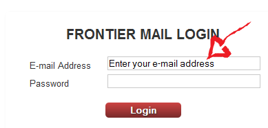 frontier email login step 1