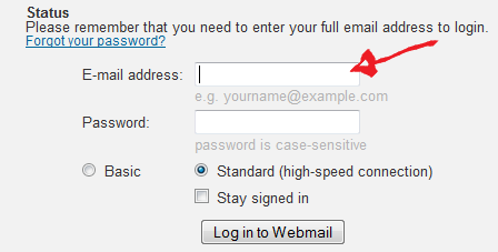 buckeye express login step 1