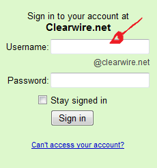 clearwire net mail login step 1