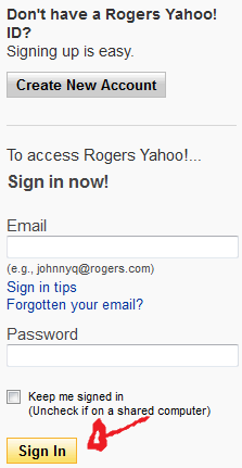 rogers mail sign in step 3