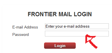 frontier email login step 2