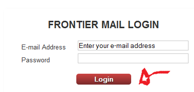 frontier email login step 3