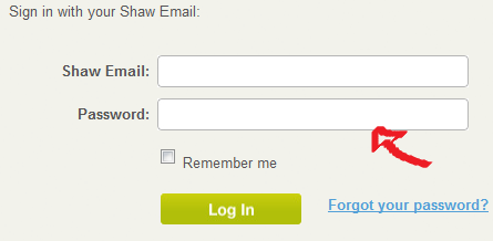 shaw webmail sign in step 2