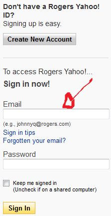 rogers mail sign in step 1