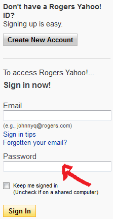 rogers mail sign in step 2