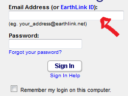 earthlink email sign in step 1