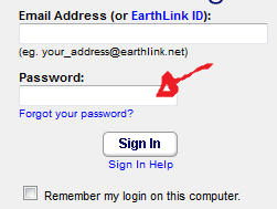 earthlink email sign in step 2