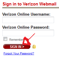 verizon webamail sign in step 3