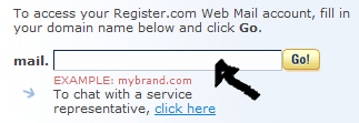 register.com webmail sign in step 1