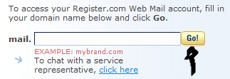 register.com webmail sign in step 2