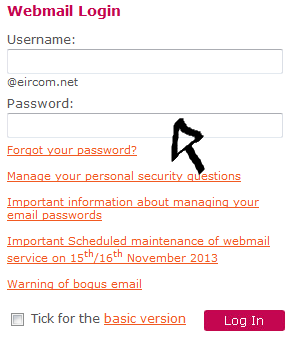 eircom net webmail login step 2
